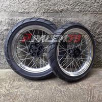Wheelset WR155 Supermoto Banset 110 140 WR 155 Paket Ban Velg 300 350