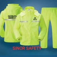 Jas Hujan RAINGARD HIJAU Industrial Safety Raincoat Baju Celana Motor - L