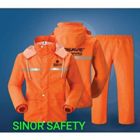 Jas Hujan RAINGARD ORANGE Industrial Safety Raincoat Baju Celana Motor - XL