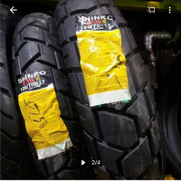 SHINKO PAKET BAN SEPASANG NEW E705 120/70/17 & 150/70/17 DUAL PURPOSE