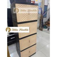 MURAH!!! LEMARI PLASTIK / LEMARI PAKAIAN / RAK PLASTIK 4 SUSUN 8 PINTU