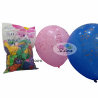 balon latex karakter doraemon / balon doraemon mix warna isi 100