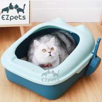 Tempat Pasir Kucing Kitty Ear Pastel Cat Litter Box Anti Splash