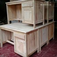 meja kerja kantor meja kantor kayu jati meja 1/2 biro