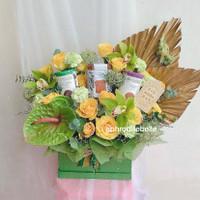 Parcel Hampers Lebaran Premium / Hadiah Idul Fitri Fresh Flowers
