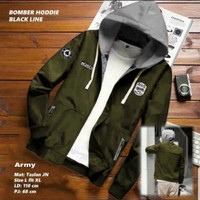 Jaket Bomber Hoodie Kualitas Bahan Premium Bisa COD - hijau army, L