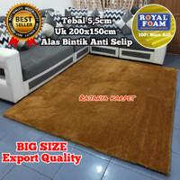 Karpet Bulu Tebal 5,5cm (Anti Selip) 200x150 / Surpet / Karpet Lantai