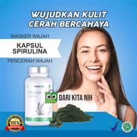 tiens spirulina masker wajah nutrisi tubuh isi 100 kapsul segel - 1 botol