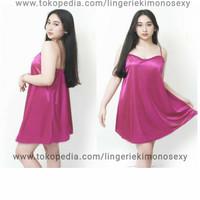 lingerie baju tidur tanktop Wanita Sexy ungu jumbo XL big size - kado