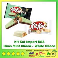 Chocolate Bar Kitkat / Kit Kat Import 4F Duos Mint Choco / White Choco - White Chocolate