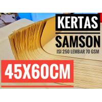 KERTAS SAMSON 60x45/45x60 KRAFT/SAMSON CRAFT/KERTAS PACKING