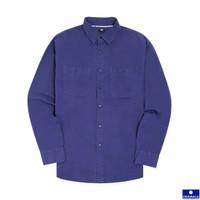 UNQ Cotton Long Sleeve Work Shirt - Navy