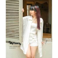[MyYoora] White Shirt Kemeja Putih Atasan Wanita Oversized / Crop