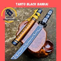 PEDANG TANTO BLACK BANKAI MOTIF LASER MANTAP