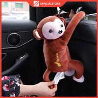 Kotak Tissue Monyet Gantung / Boneka Tempat Tisu Mobil / Arm Rest