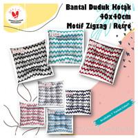 Bantal Duduk 40x40cm - Motif Zigzag / Baby Retro