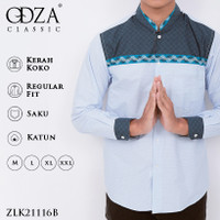 Odza Classic Baju Koko Kemeja Lengan Panjang REGULAR FIT Balaham - XL