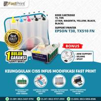 Fast Print Ciss Infus Modif Printer Epson T30 TX510 FN