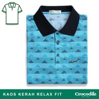 Crocodile CORY 0734 Blue - Baju Kaos Kerah Pria Men Polo Original