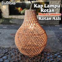 KAP LAMPU ROTAN/KAP LAMPU/LAMPU ROTAN/LAMPU KAYU/BAMBU/LAMPU UNIK