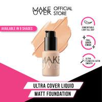 MAKE OVER Ultra Cover Liquid Matt Foundation - 01 Ochre