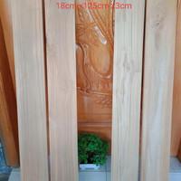 papan kayu jati . jati karya mandiri.ukuran 16cm x4,5cm x85cm