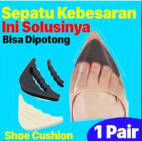 Insole Pengganjal Ganjelan Sepatu Longgar Kebesaran - Bantalan Sepatu - Hitam