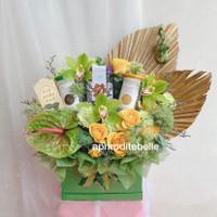 Parcel Idul Fitri Premium / Hadiah Parcel Lebaran Bunga Fresh Flowers