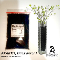 Hidrogel Media Tanam Modern Pengganti Tanah - BLACK HYDROGEL 300 g