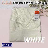 Luludi By Wacoal Lingerie LN 4815 Full Cup Lace / Baju Tidur Dress - Putih, L