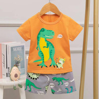 Baju Setelan Anak Laki-laki / Bayi / Baju Setelan Premium Motif Lucu 2 - J, 90