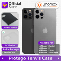 Case iPhone 12/mini/Pro/Pro Max Protego Tenvis Ultra Thin Slim Casing - 12 Pro, Smoke Black