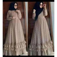 Gamis Wanita | Fashion Muslim | Andara Polka | Ceruty Babydoll