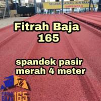 ATAP SPANDEK/SEPANDEK PASIR MERAH 4 METER