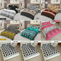 Bedcover Set Lady Rose King size 180x200 sprei Flat