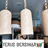 Rong bambu lampshade-lampu hias-lampu kayu- kampu rotan-lampu gantung