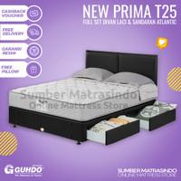 Spring Bed GUHDO New Prima T25 180x200 FULL SET Divan Laci HB Atlantic