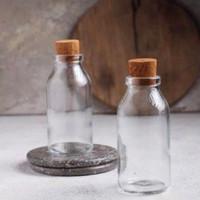 TEMPAT BUMBU AESTHETIC (botol kaca 100ml tutup sumbat kayu/gabus)