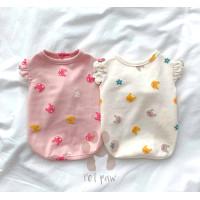 Petpaw Baju Anjing Kucing Bunny Ruffle Top Premium Cotton Import