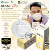 MS Glow - 1 Box Masker Kosme Mask Nano Silver Masker Kesehatan KM95