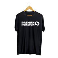 kaos distro preman pensiun 5 / baju preman pensiun 5 - Putih, S