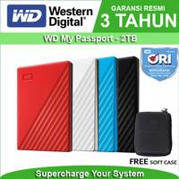 WD My Passport 2TB - HD HDD Hardisk Eksternal External 2.5 USB 3.0 - Merah