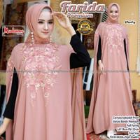 Baju Gamis Kaftan Wanita Farida Premium