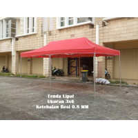 Tenda Lipat 3x6 Besi Putih Dengan Ketebalan Besi 0.8 MM