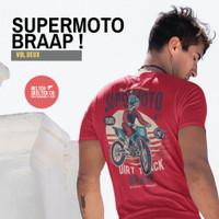 Kaos Baju Motor Cross Supermoto Trail Indonesia Motocross Red Distro - L