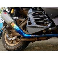 PROMO Header Knalpot Nmax Aerox Lexi -bkn biru titanium arrow r9 wrx