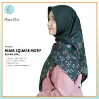 Hijab AZARA Segi Empat Motif Bahan Kerudung VOAL Bisa Pilih Warna COD