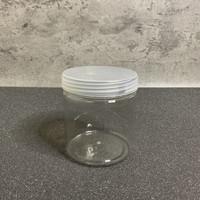 TOPLES KUE KERING PLASTIK BULAT/TOPLES LEBARAN 500 GRAM/COOKIE JAR
