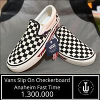 Sepatu Vans Original   Vans Slip On Checkerboard Anaheim Fast Time  
