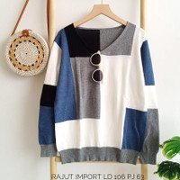 Blouse More Rajut jumbo premium import baju atasan jumbo blouse murah